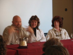 Dr. John Veltheim, Robyn Whatley-Kahn on panel discussion